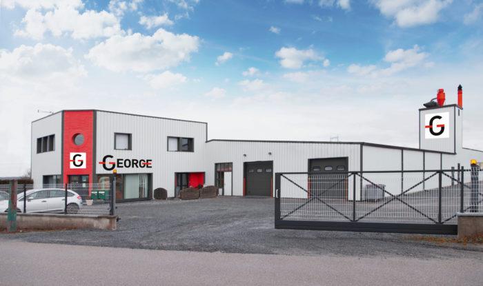 Menuiserie George fabricant de portes intérieures vue extérieure de l'entreprise de portes intérieures bois dans les Vosges