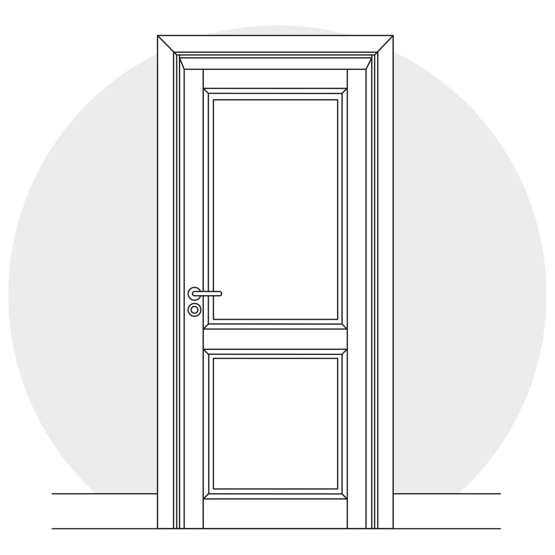 Schema technique illustrant une porte intérieure