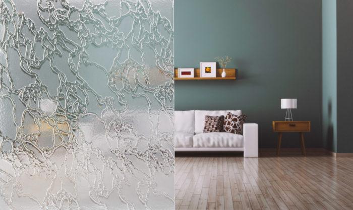 Menuiserie George vitrage pour portes intérieures : Delta blanc mat
